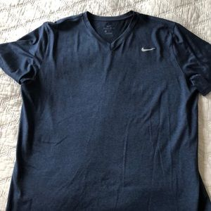 Nike- Men's Dri-fit v neck T-shirt, navy, XL